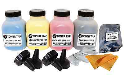 4Pack Chip-Toner Refill Kit For Samsung CLT407 CLP320 CLP325 BK/CMY