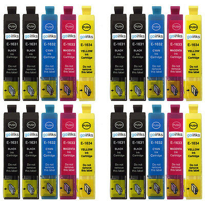 20 Ink Cartridges to replace Epson T1631, T1632, T1633, T1634 (T1636) Compatible