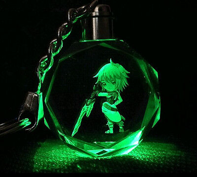 League Of Legends LED Multicolor Octagon Crystal key chain All-Star!Rivan-2
