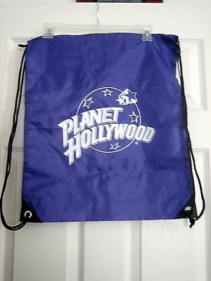 GENUINE Purple Planet Hollywood Nylon Drawstring Backpack - NEW!!!