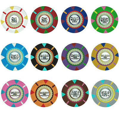 Bulk Lot of 1000 The Mint 13.5 Gram Casino Grade Quality Clay Poker Chips New