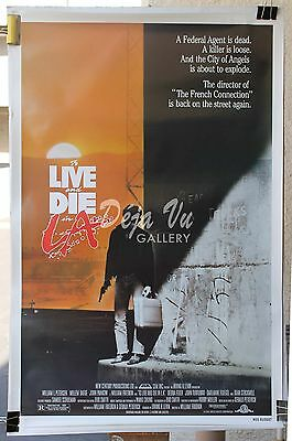 HS To Live and Die in L.A. Original Movie Poster 1985 NM