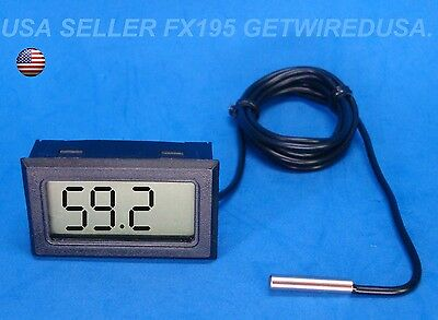 LCD Digital Temperature Meter Indoor Outdoor Thermometer Sensor Refrigerator Hot