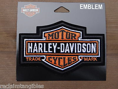 Harley Davidson Authentic Patch  - Long Bar & Shield - Medium Emblem Badge