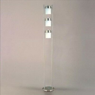 Chrome Floor Lamp (3 Adjustable LIGHTS) Fixture MODERN