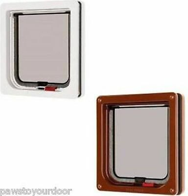Petmate Cat Mate Cat Flap Pet Door 234w or 234b Lockable Catflap Trimmable Liner