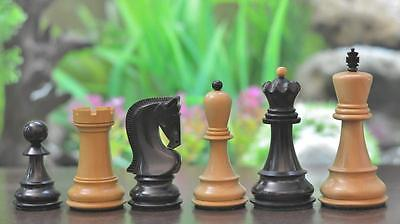 """Exclusive Russian Zagreb Dyed Chess Pieces in Stained Box Wood - 3.9"""" King"""