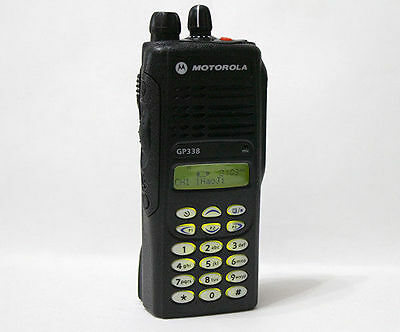 16 Channel Motorola GP338 UHF 450-527 Mhz 4W 2-Way Radio + Accessories AZ Type