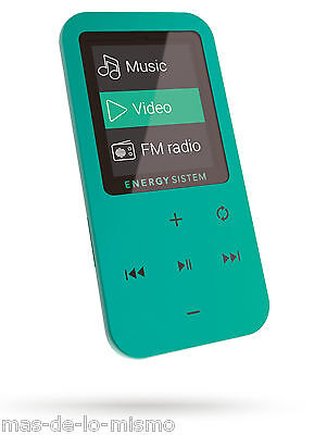 "Reproductor MP4 Energy Sistem Touch Mint 8GB LCD 1.8"" Radio FM m-SD Grabadora"