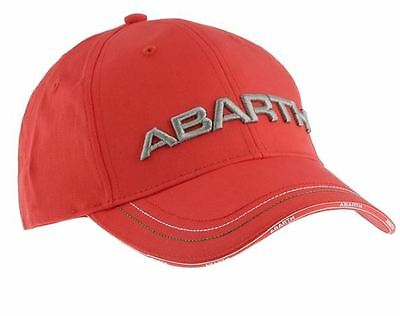 Abarth Merchandise Red Cotton Baseball Cap 59106057 Brand New Official Genuine