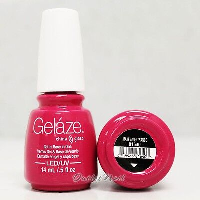 Gelaze China Glaze LED UV Nail Gel Color Polish 0.5 oz - Make an Entrance 81640