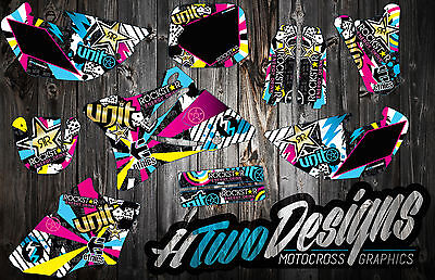 Yz 85 2002-2012 Graphic Kit Stickers Yz85 Graphics Decal Kit Sticker Kit Decor