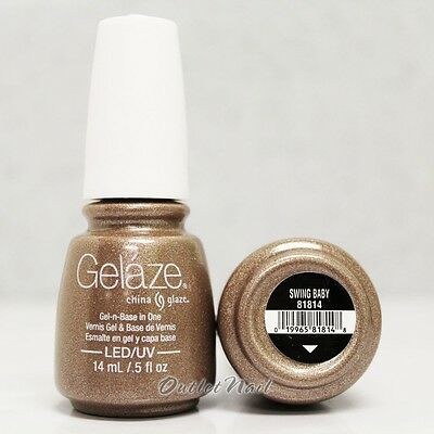 Gelaze China Glaze LED UV Nail Gel Color Polish 0.5 oz - Swing Baby 81814