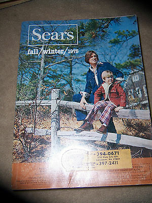 VINTAGE 1975 FALL AND WINTER  SEARS CATALOG...COOL ADS, CLOTHES