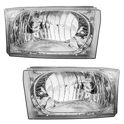 Ford Excursion Super Duty Pickup Set of Composite Headlights - Clear Center Lens