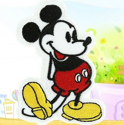 Cute Cartoon Mouse Embroidery Cloth Iron On Patch Sew Motif Applique ~1PC