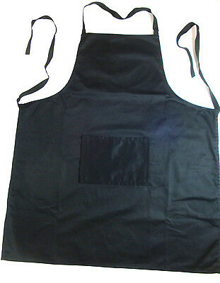 New 12 x Kitchen Apron Aprons 100% Cotton Washable Black Wholesale Bulk Lot