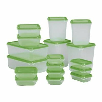 Food Storage Containers Ikea Foodsaver Set Of 17 Clear Green Bpa Free  Kitchen Ba
