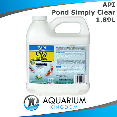 API PondCare Simply Clear 1.89L Clarifier - Clears Murky / Cloudy Pond Water