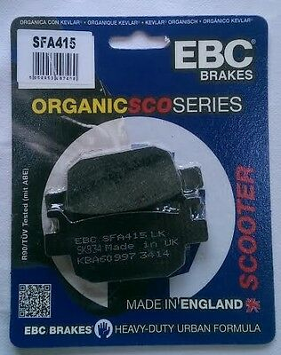 Honda SH300i (2007 to 2016) EBC Organic REAR Disc Brake Pads (SFA415) (1 Set)