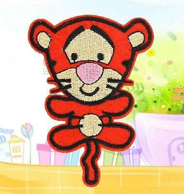 FD1332 Cute Tiger Baby Embroidery Cloth DIY Iron On Patch Sew Motif Applique 1PC