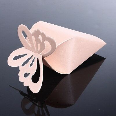 New  50pcs/set Butterfly Favor Gift Candy Boxes Cake Style for Wedding Party