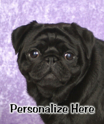 Pug   black   Personalized  Mouse  Pad