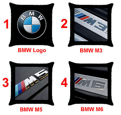 "BMW M3 M5 M6 Series Car Logo Z3 Z4 E60 E90 X5 X6 18""x18"" Throw Pillow Case Cover"