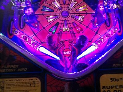 SPIDERMAN-METALLICA OR ANY Pinball Machine WITH AN APRON- ON SALE 50% OFF!!!