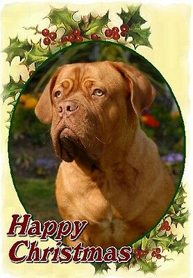 Dogue de Bordeaux Dog A6 Christmas Card Design XDOGUE-5 by paws2print