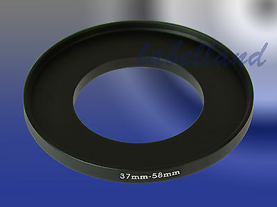 37mm-58mm Filter Adaptor Ring Converts 37mm lens thread to 58mm 37-58 Step-Up