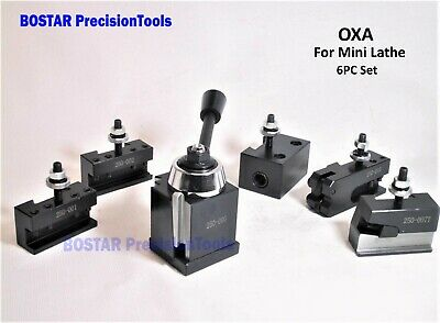 OXA Wedge Type Tool Post Set For Mini Lathe up to 8""