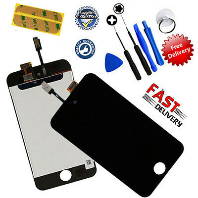 Replacement FOR iPod Touch 4 4th Gen Digitizer + LCD Screen Assembly UK - BLACK