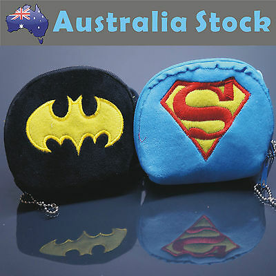 NEW Superman Batman Coin Bag Purse Wallet Makeup Bag Cosmetic Bag