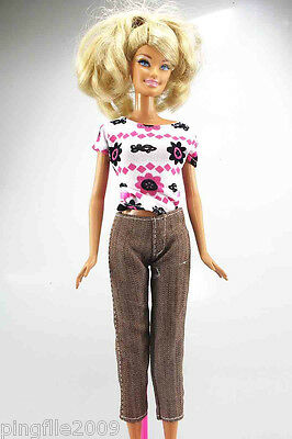 Hot!Handmade Daying Dress Clothes Outfits Barbie Doll #914