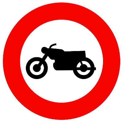 GIFT SOUVENIR NOVELTY ROUND FRIDGE MAGNET ROAD SIGNS NEW NO MOTORCYCLES