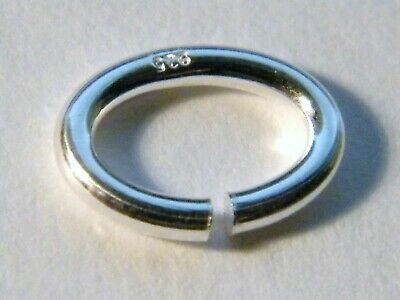 """10x-6mm Solid Sterling Silver """"Oval"""" Jump Rings Heavy-Findings-Jump Rings"""
