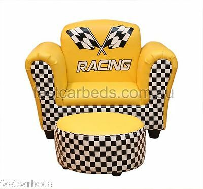 Kids Car Race Theme Bedroom Toddler Lounge Sofa Chair - Great For Playroom
