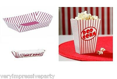 Hollywood Movie Sleep over Popcorn Boxes and Hot Dog Trays