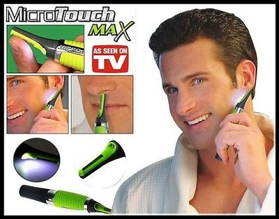 Micro Touch MAX Personal Nose Ear Neck Eyebrow Hair Trimmer Groomer Remover NEW