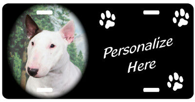 Minature Bull Terrier Personalized  Auto License plate