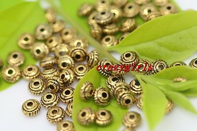 100pcs Gold Charm Spacer Beads DIY Jewelry Finging Making 5x3mm(lead free)