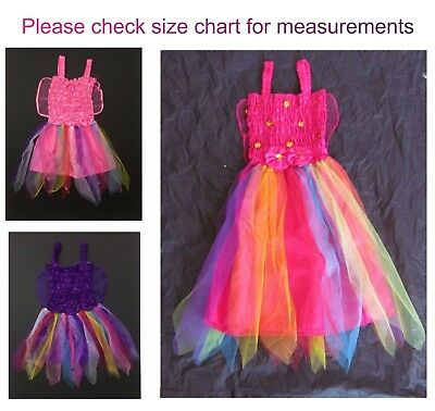 Girls Children Fairy Costume Outfit Fancy Dress Up Pink