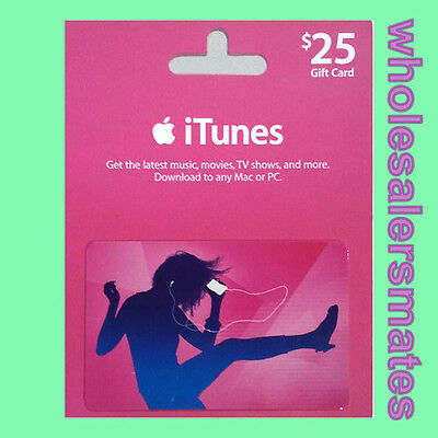 $25 Apple US iTunes Card Gift Card 25 Dollar voucher certificate -FAST DISPATCH
