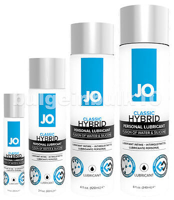 System JO Classic Hybrid Water & Silicone Based Sex Lubricant - Choose Size