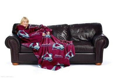 Colorado Avalanche Comfy Throw Fleece Blanket w/Sleeves FREE US SHIPPING