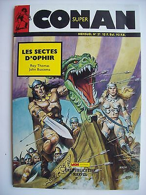 Super Conan 21 mon journal Marvel heroic fantasy Roy Thomas John Buscema