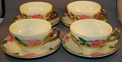 4 FRANCISCAN DESERT ROSE CUPS AND SAUCERS