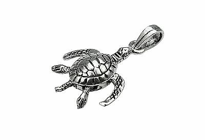 Baby Turtle In Egg Polished Charm Pendant 15mmx10mm Sterling Silver