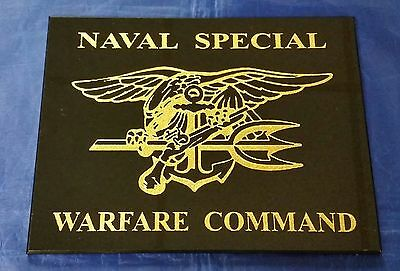 "Naval Special Warfare Command SEAL Team 6 SEAL Trident Logo Center 9"" X 6"" Sign"